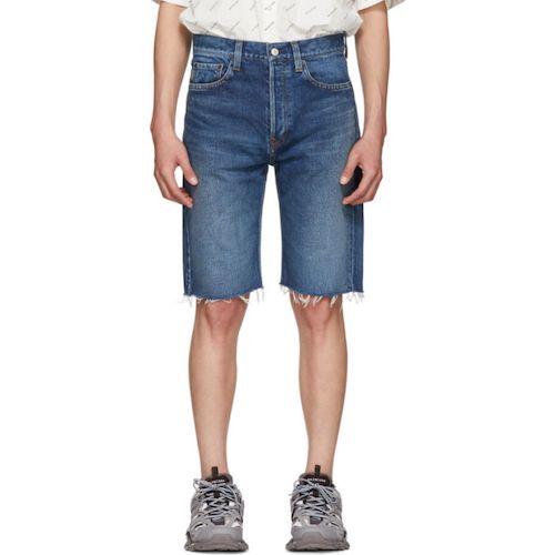 Blue Japanese Denim Shorts