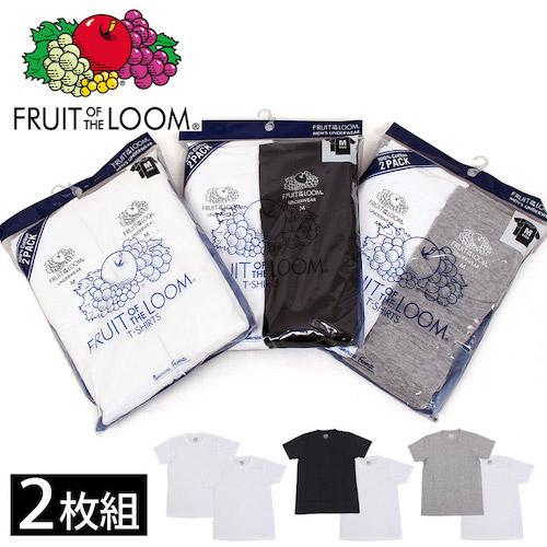 FRUIT OF THE LOOM/2枚入りパックTシャツ