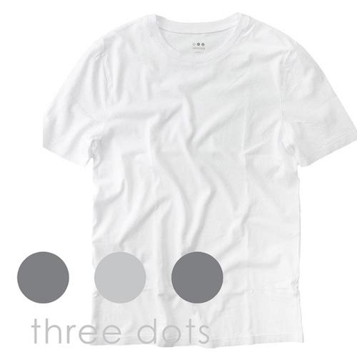 three dots/コットン100%無地Tシャツ