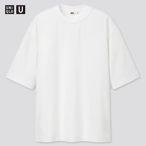 UNIQLO/エアリズムコットンオーバーサイズTシャツ(5分袖)