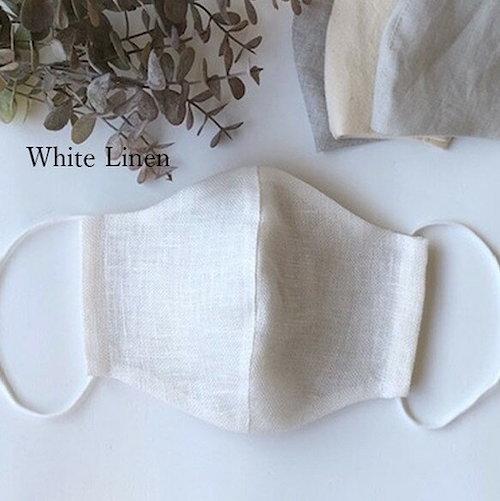 リネン麻とオーガニックコットンのハンドメイド立体フィットマスク