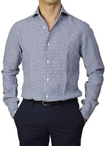 DANDY LIFE リネン100% セミワイドカラー シャツ