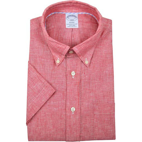 リージェントフィットリネン半袖 ボタンダウンシャツ