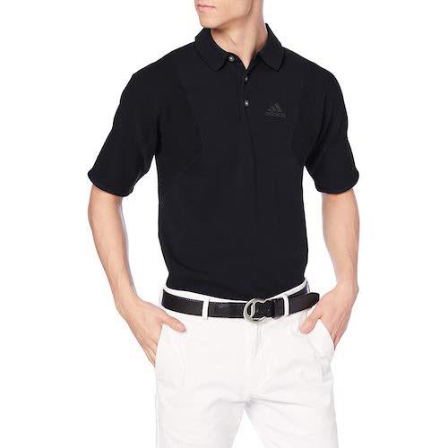 ジャカードパターン半袖ニットシャツ