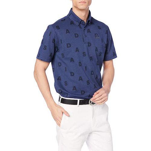ADIDASモノグラム 半袖ボタンダウンシャツ GLD29