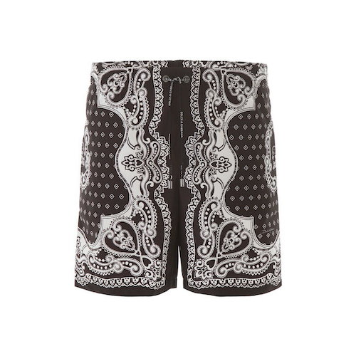 bandana print swim trunks