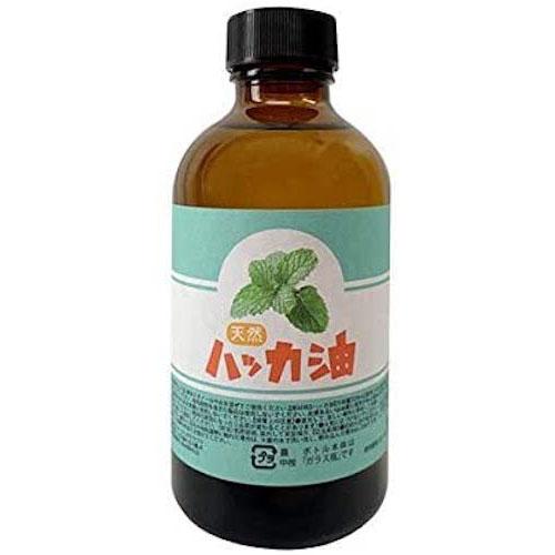 日本製 天然ハッカ油(ハッカオイル) 200ml 中栓付き