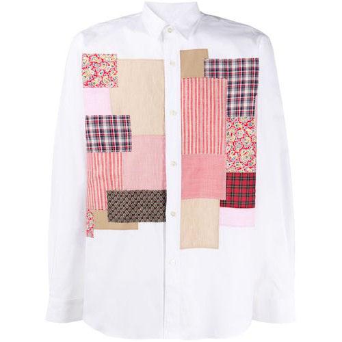 パッチワークシャツ WEB027S20