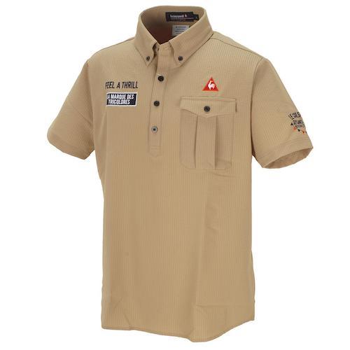 ストレッチプライムフレックスシャドーストライプサッカー半袖ポロシャツ