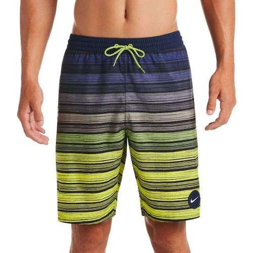 6:1 Stripe Breaker Volley Swim Trunks