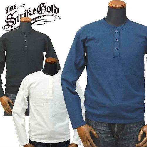 吊り編みヘンリーネックロングTシャツ「SGLT002」