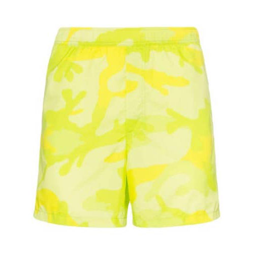 camouflage-print swimming trunks