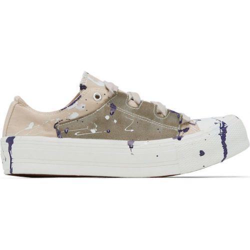Needles(ニードルズ)/beige paint ghillie sneakers