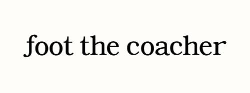 foot the coacher ロゴ