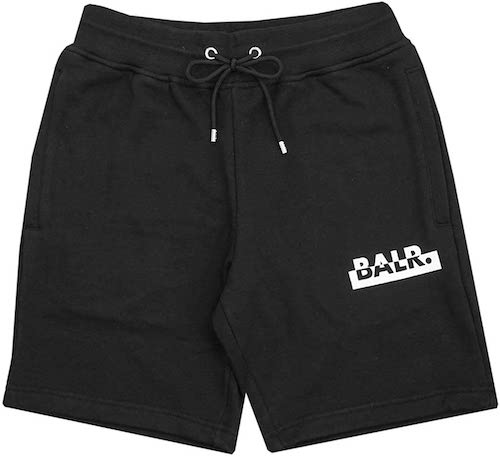 Contrasting logo straight shorts