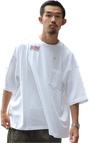 2XL ワイドラベル-Tシャツ