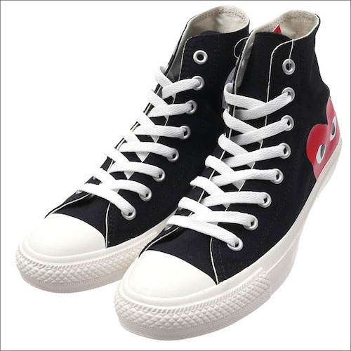 PLAY COMME des GARCONS × CONVERSE ALL STAR HI PCDG BLACK