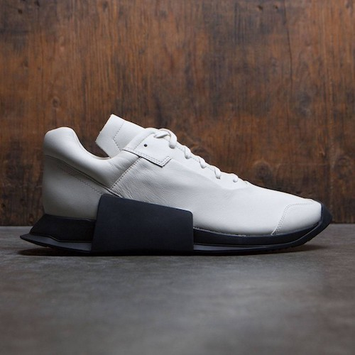 WHITE BLACK ADIDAS×RICK OWENS MEN LEVEL RUNNER LOW II RO MILK