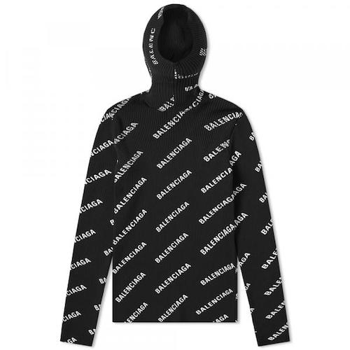 alenciaga/All Over Logo Print Hoody
