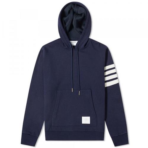 Thom Browne/Shell Back Cashmere Pullover Hoody