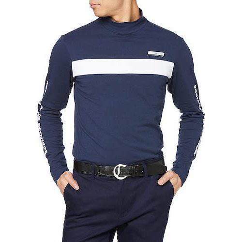 New Balance GOLF/長袖ハイネックシャツ (COOLMAX: 吸汗速乾性・UPF40+)