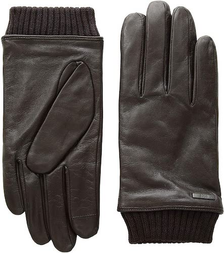 Hewen Touch Tech Leather Gloves