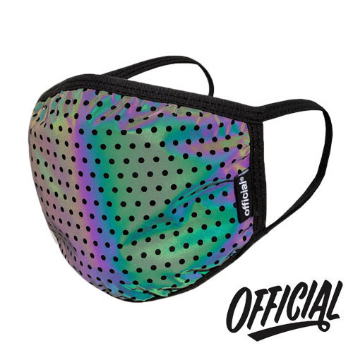 OFFICIAL Crown of Laurel Face Mask Rainbow Reflective