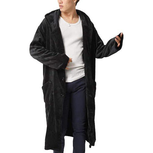 ARCADE/着る毛布 マイクロべロアルームウェアガウンフリース