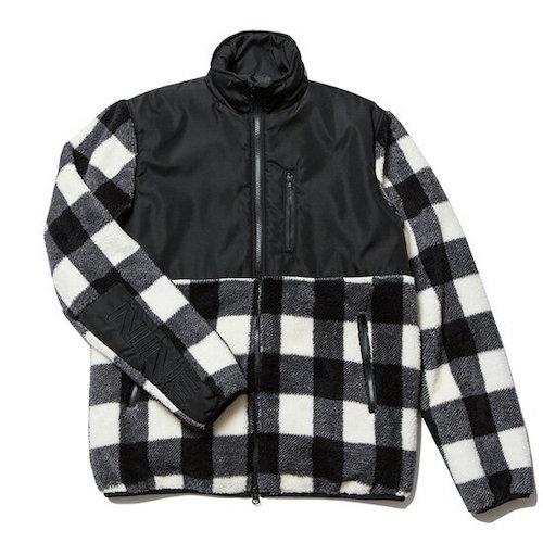 ナインルーラーズ/Check Boa Jacket