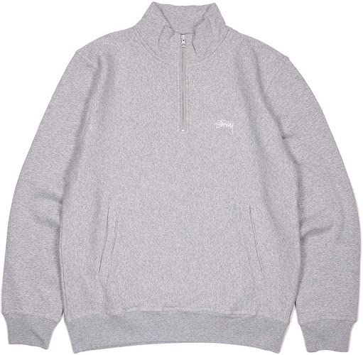 STUSSY/STOCK FLEECE MOCK(HALF ZIP)