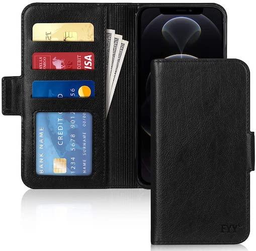 高級PUレザー全面保護耐衝撃財布型