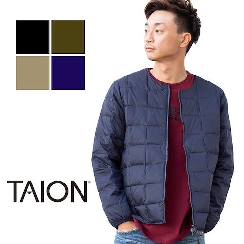 TAION(タイオン)/クルーネック Wジップ インナーダウンジャケット