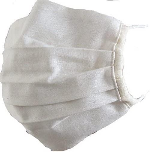 洗えるオーガニックコットンで作った立体タイプのマスク