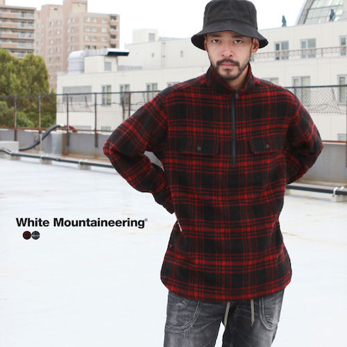White Mountaineering/CHECK SHAGGY BIG PULLOVER SHIRT