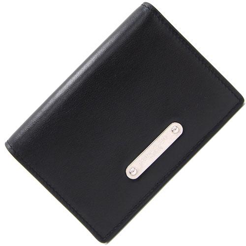 ブラックレザーカードケース