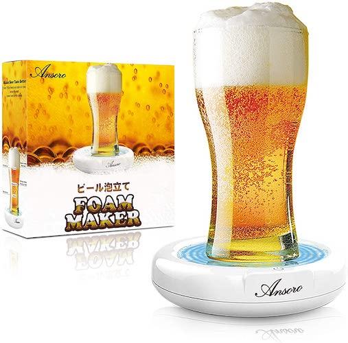 超音波式 ビールの泡立て