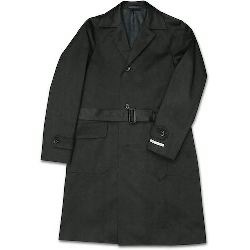 MADE BY RING JACKET/濃紺コットンギャバジンステンカラーコート