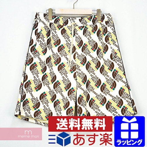 GUCCI×THE NORTH FACE 2021SS Web Print Silk Shorts