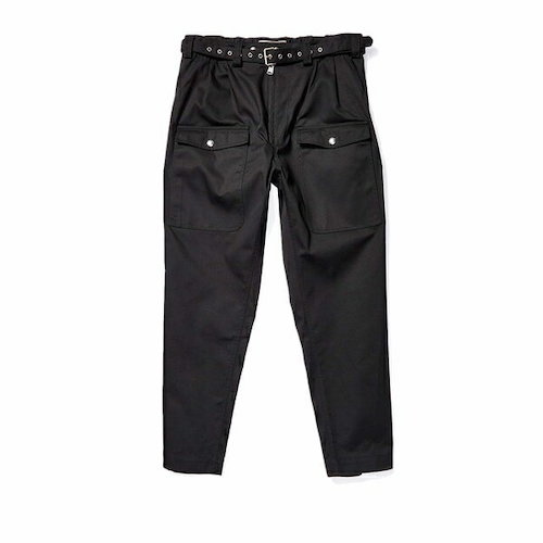 Detailed Relax Fit Cargo Pants Black