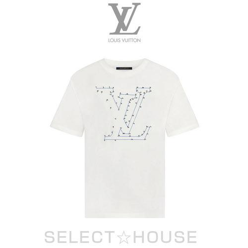 LOUISVUITTON/LVステッチプリントアンドエンブロイダリーTシャツ