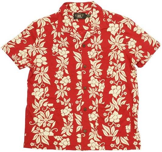 RRL/Jersey Hawaiian Camp Shirt