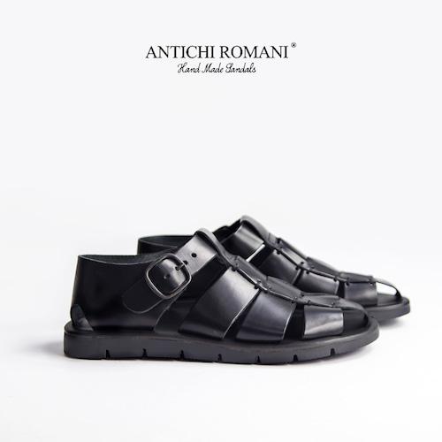 ANTICHI ROMANI/本革レザーグルカサンダル