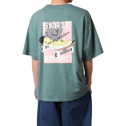 バレッタ/スケボーレトロプリント半袖 Tシャツ