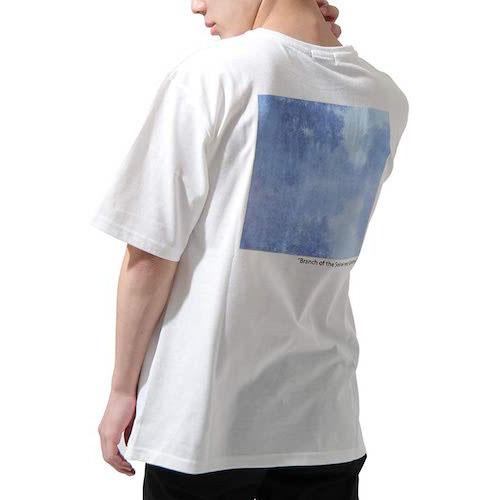 ZIP FIVE/バックプリント絵画半袖Tシャツ