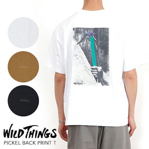 WILD THINGS/PICKEL BACK PRINT TバックプリントT