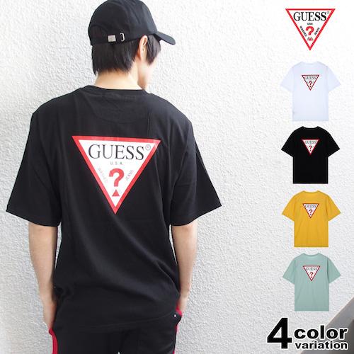 GUESS/Original Triangle Logo Back Print S/S Tee