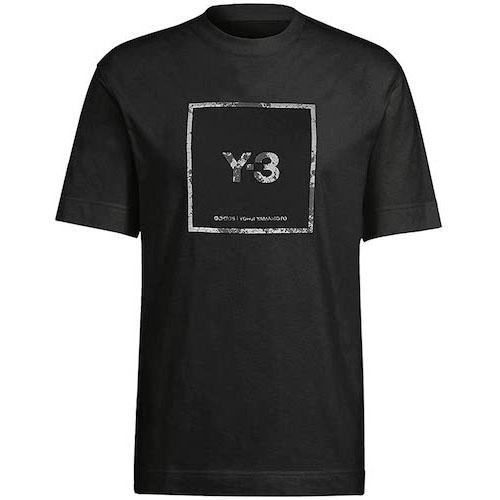 Y-3/U REFLECTIVE SQUARE LOGO SS TEE