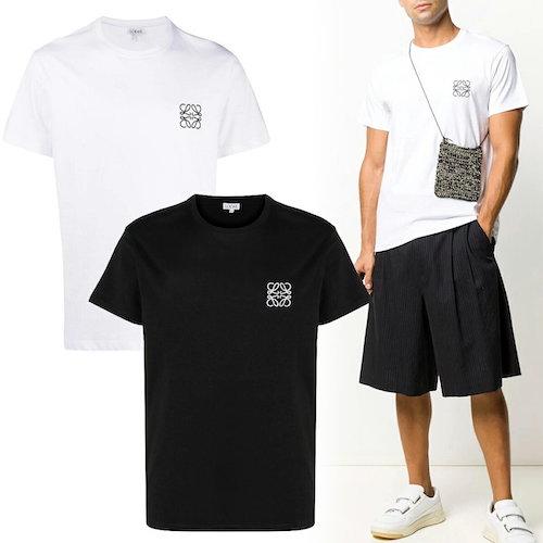 LOEWE/アナグラム ロゴ刺繍 Tシャツ