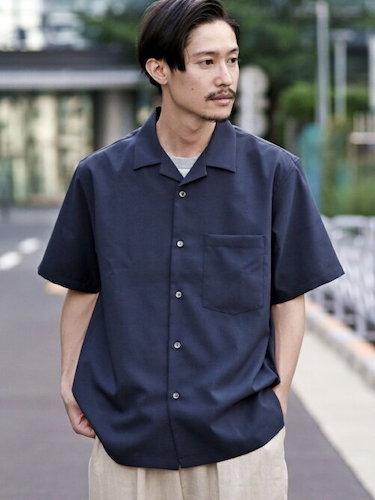 SHIPS: Reflax(R) /ドライタッチオープンカラーシャツ