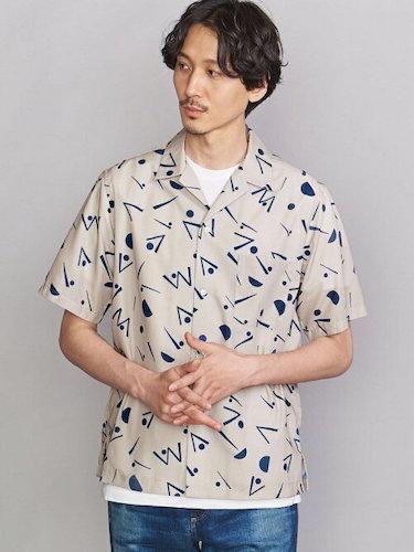BY VARIOUS/P オープンカラーシャツ